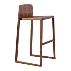 Hanna Bar Stool 29-inch Seat Height Walnut