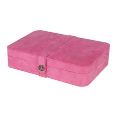 Maria Plush Fabric Jewelry Box, Pink