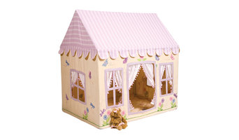 Win Green Handmade Cotton Butterfly Cottage Playhouse, Large With Floor Quilt