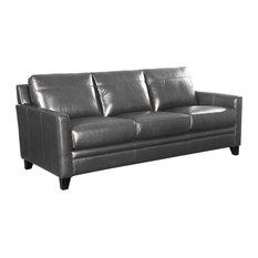 Oliver Pierce Warner Top Grain Italian Leather Sofa Sofas