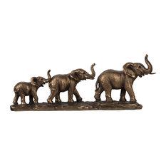 "Elephant Family Statue 18""x3""x4"""