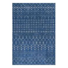 Moroccan Blythe Contemporary Area Rug, Dark Blue, 8'x10'