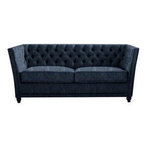 Disraeli Chesterfield Sofa Bed, Navy, 2 Seater, 113x183 cm