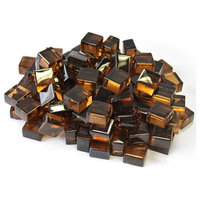 TK Classics Copper Reflective Fireglass Cubes - 10 lb Bag