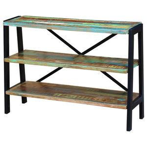 vidaXL Solid Reclaimed Wood Sideboard, 3-Shelf