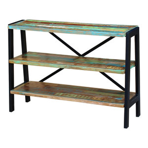vidaXL Solid Reclaimed Wood Sideboard, 3-Shelf