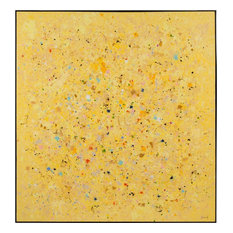 JOHN-RICHARD Painting Luo Xiong's Canary Abstract Xiong Bright Yellow