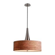 Bulletin 3-Light Pendant, Brushed Steel Finish