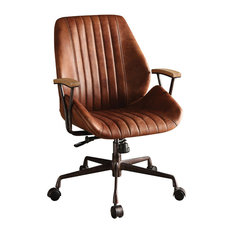 1PerfectChoice   1PerfectChoice Hamilton Top Grain Leather Office Chair,  Cocoa   Office Chairs