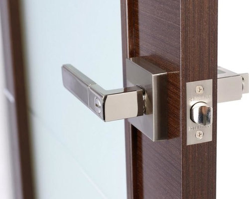 Square Rosette Modern Interior Door Handles Passage