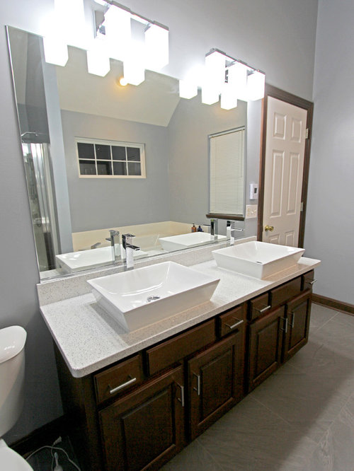 Master Bath With Cambria Whitney Quartz And Rectangle