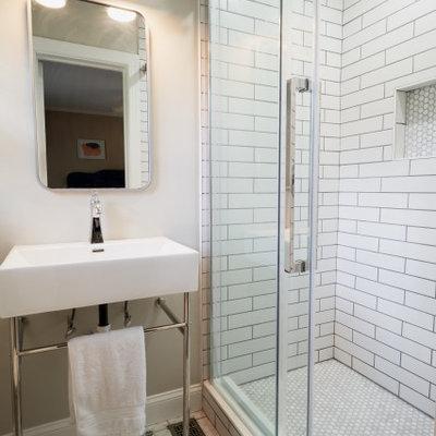 Inspiration for a modern bathroom remodel in Charlotte