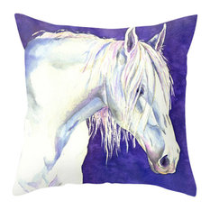 """Decorative Pillow Cover, Horse Painting, Home Decor, 20""""x20"""""""