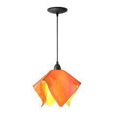 Jezebel Radiance Flame Pendant, Large, Tangerine