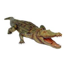 Crocodile Life Size Statue 10 Feet Long!