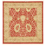 Unique Loom - Unique Loom Edinburgh Adel, Red, 4'x4', Square - The classic look of the Edinburgh Collection is sure to lend a dignified atmosphere to your home. With an array of colors and patterns to choose from, there�s a rug to suit almost any taste in this collection. This Edinburgh rug will tie your home�s decor together with class and amazing style.