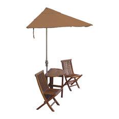 5-Piece Bistro Economy Set With 7.5' Sunbrella Fabric off-The-Wall Brella