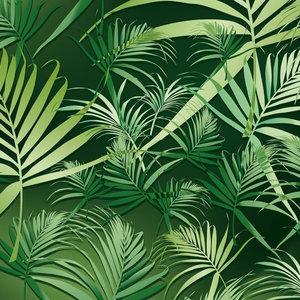 Tropic Wallpaper, 2 Strips, Dark