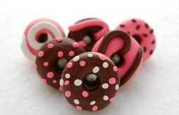Chocolate Donut Pushpins by Emariecreations