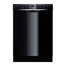 "Bosch 24"" Wide Full Console Built-In Dishwasher Overflow Leak Protection, Black"