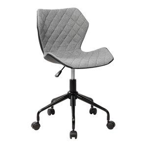 Techni Mobili Deluxe Modern Office Armless Task Chair, Gray