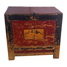 Consigned Antique Small Cabinet With Beautiful Patina
