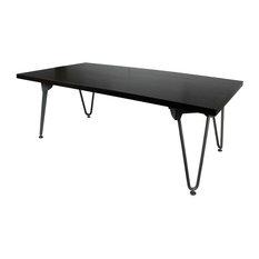 Urban Designs Orleans Ebony Coffee Table With Silver Folding Frame