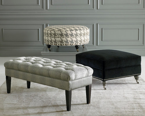 Custom Ottomans And Benches By Bassett Furniture   Footstools And Ottomans