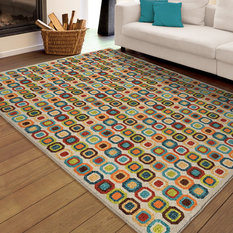 1st Avenue Bright Dotted Squares Indoor Outdoor Area Rug Multicolor 7