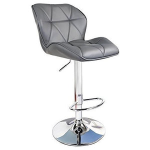 Modern Swivel Bar Stools with Padded Seat in Faux Leather for Ultimate Comfort