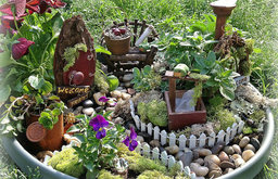 Rustic Fairy Garden Kit by The Purple Fairy Shoppe