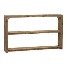 Mediterranean Wooden Console Table, Natural Wood