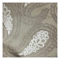 Victoria Bold Paisley Cut Velvet Upholstery Fabric, Beach