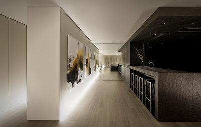 My Houzz: 陰影の中にデザインしたタイムレスでプリミティブなくつろぎの家