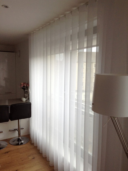 Silent Gliss 3840 tracks and Sheers with 80mm Wave - Curtains