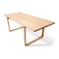 - Natural Delta Solid Oak 220cm Dining Table by Ton - Dining Tables