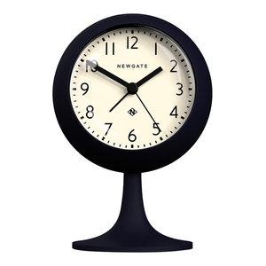 Newgate Dome Petrol Blue Alarm Clock, White
