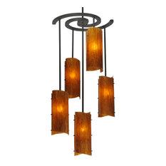 """Meyda Lighting 34""""W Vortex 5-Light Chandelier"""