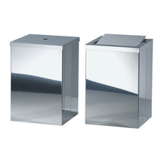 Harmony 210 Waste Basket with Revolving Cover in Polished Stainless Steel