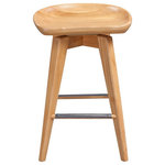 """Boraam - Bali Swivel Stool, Natural, 26"""" - The Bali Swivel Stool from Boraam Industries, Inc. boasts a solid hardwood footrest. Boasting a 360-degree swivel mechanism and contoured seat, this piece has been designed with your comfort in mind. Exuding a warm, luxurious feel, thanks to its rich colors and sumptuous textures, this swivel stool from Boraam Industries, Inc. makes a sophisticated addition to any interior space."""