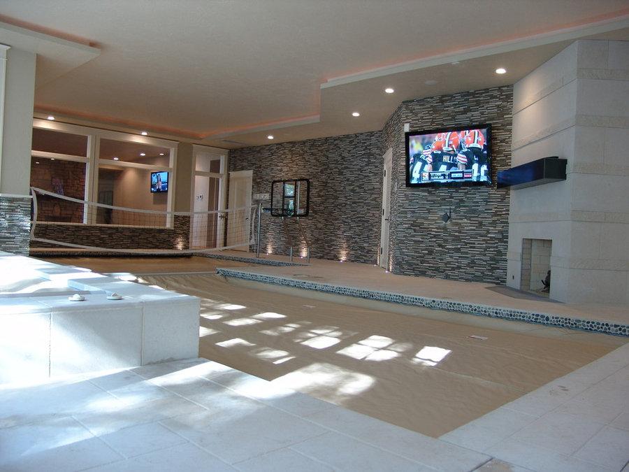 Indoor Pool Room Television Installation