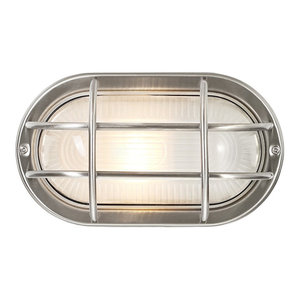 Stainless Steel Cast Aluminium Outdoor Oval Bulkhead Wall Light