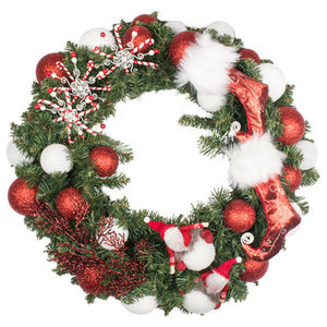 Santa Suit Theme Range, 60 cm Pre-Decorated Wreath