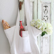 Chic French Linen Market Tote
