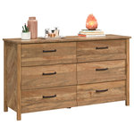 """Sauder Woodworking - Sauder Woodworking 424195 Cannery Bridge 56-1/4"""" Wide Six Drawer Wood Dresser - All furniture purchases are final. If furniture arrives damaged or is defective please call for assistance (800) 375-3403. Furniture Return PolicyFeatures:"""