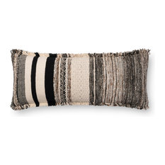 Loloi x Justina Blakeney Striped Throw Pillow-P0668, No Fill