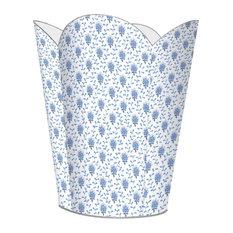 Blue Provencial Print Wastepaper Basket