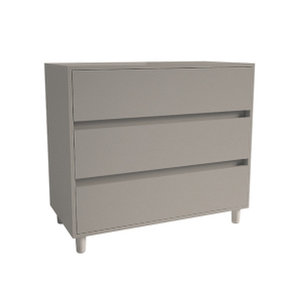 3 Drawer Chest with Soft Close, Stone Grey