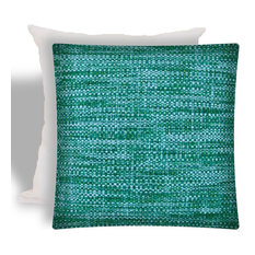 Boho Sea Aqua Indoor/Outdoor Zippered Pillow Covers With Inserts, Set of 2