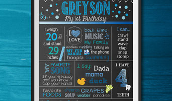 1st Birthday Chalkboard Designs (Available in 8x10, 11x14 & 16x20)